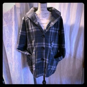 Maurices plaid pea coat #1148